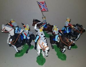 mounted CONFEDERATE Troops set Civil War DSG  Soldiers ARGENTINA Britains