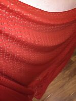 """1 MTR RUSTY CORDED PAISLEY SLIGHT STRETCH LACE FABRIC...60/"""" WIDE"""