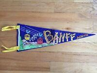 Vtg Banff Alberta Pennant Felt Banner 1960's Canada Souvenir AB Travel Gondola