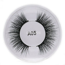 3D False Eyelashes Authentic Mink 100% Siberian Mink Fur Natural Fake Lashes A05