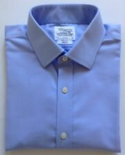 T.M.Lewin Finest Two-Fold White Cotton Shirt, Size 17/36, Chest 43-91cm Non Iron