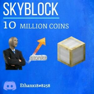 Hypixel Skyblock 10 Million Coins Fast & Safe Delivery
