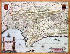 Reproduction carte ancienne - Andalousie (Andalucía) 1635