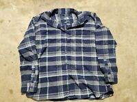 The North Face Long Sleeve Button Down Flannel Plaid Shirt Womens Size Large