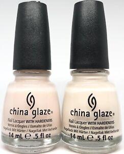 china glaze Nail Polish Faith 1064 + Angel's Breath 1065 Sheer Nude Pink French