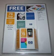 HP Inkjet Print Cartridge 78 Large High Capacity Tri-Color c6578a Exp 05/2003