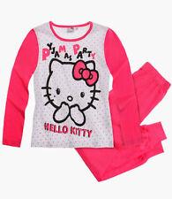 Pyjamas rose à manches longues pour fille de 2 à 16 ans en 100% coton