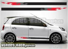 003 side racing stripes Fits Nissan Micra decals vinyl graphics stickers Nismo