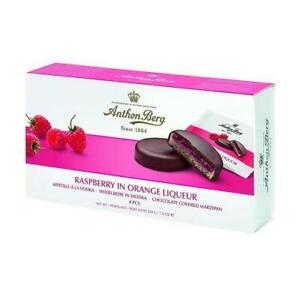 Anthon Berg Chocolate Covered Marzipan, Raspberry in a Orange Liqueur 220g