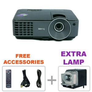 REFURBISHED - BenQ MX520 DLP HD Projector Home Theater w/bundle + EXTRA LAMP