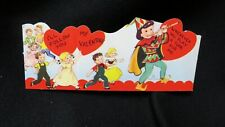 Vintage Piped Piper Valentine Card c. 1940s unsigned