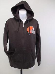 New Cleveland Browns Womens Size M Medium Brown Jacket-Hoodie $55 MSRP