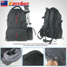 Rucksack Camera Bag DSLR SLR & Laptop Backpack Pack For Nikon Sony Canon Olympus