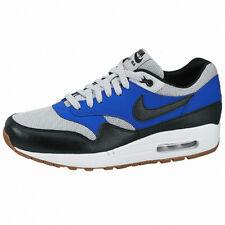 Nike Air Max 1 Essential SZ 9.5 Grey Mist Black-Lyon Blue 537383-022