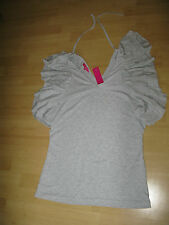 B LONG TALL SALLY blouse top grey LTS boutique ladies womens size Large