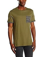 New Look Men's Aztec Pocket Short Sleeve Top M t shirt Green