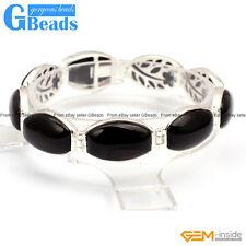 "Assorted Stones Tibetan Silver Plated Tennis Link Bracelet 7"" Xmas Gift"