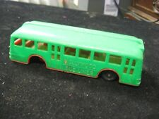 "Vintage 6"" Hollywood Bus Lines Green Red Plastic Toy Bus Vehicle"