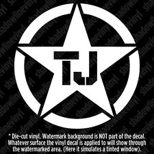 (x2) JEEP TJ Army Star Decal Sticker Willys TJ LJ Wrangler Sport Sahara Rubicon