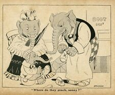 MOTHER ELEPHANT BUYING SHOES FOR HER SON ELEPHANT SALESMAN SHOE STORE DEPARTMENT