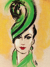 G4 GREEN HAT;DECO FASHION; LIZZIE HUXTABLE ;ANY OCCASION;WIFE;FRIEND;BIRTHDAY;UK