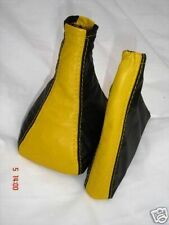 FITS FIAT SEICENTO CINQUECENTO SPORTING GAITERS YELLOW BLACK