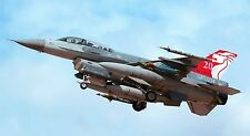 """F-16 FIGHTING FALCON MILITARY AIR FORCE JET 24""""x 43"""" LARGE HD WALL POSTER PRINT,"""