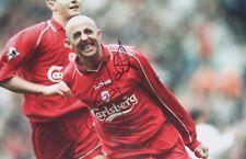 Gary McAllister signed Liverpool 12x8 COA