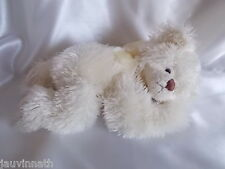 Doudou chat blanc couché, ruban, Bliss Bears,  Blankie/Lovey/Newborn toy