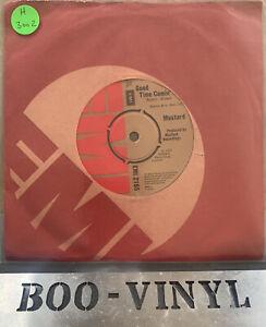 "Mustard ""Good Time Comin"" / ""I Saw I Heard"" 1974 UK EMI 7""    RARE EX / EX CON"