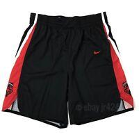 New Nike Men's L Rutgers Scarlet Knights Elite Basketball Short Black Red 867772