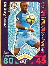 Match Attax 2016/17 Premier League - #166 Bacary Sagna - Manchester City