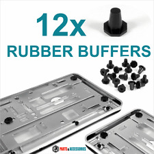 12x ​RUBBER BUFFERS for CHROME Number plates Holders Surrounds Bumper Protector
