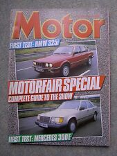 Motor (19 Oct 1985) Mercedes 300E, BMW 325, Lotus Excel, Midas Gold, Quattro