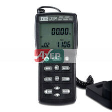 A● TES-1339R Data Logger Light Meter Tester 0.01 to 999900 Lux PC Data Record