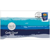 2018 50 CENT Gold Coast 2018 COMMONWEALTH GAMES PNC 7500 MADE Cu Ni 50c