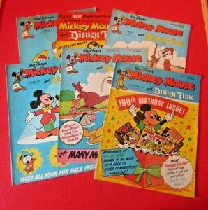 Walt Disney's Mickey Mouse 6 comics From 1977 Bundle Lot 5