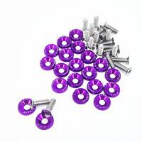 20X Purple JDM Billet Aluminum Fender/Bumper Washer/Bolt Engine Bay Dress Up Kit