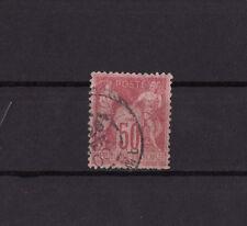 timbre France  Sage  50c  rose  num: 104   oblitéré