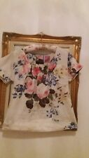 Joules Floral Roses Short Sleeve Top