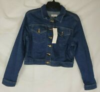 $129 Calvin Klein Women's Ladies Cropped Jean Jacket Size Medium New with Tags