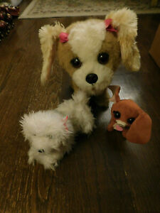 Lot FurReal Friends Bouncy My Happy Pup Interactive Dog Plush Bows & Mini Puppy