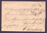 Vorphilabrief Bremen 1822 mit großem Schlüsselstempel nach Oldenburg (928)