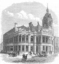 ESSEX. New Townhall, Stratford, Essex, antique print, 1869