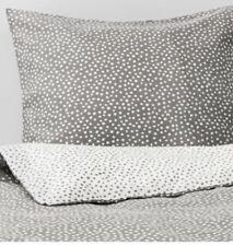 Ikea Vintner 2017 King Duvet 2 Pillowcases Grey & White 240x220 BNWT