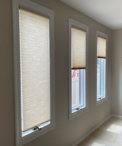 HUNTER DOUGLAS DUETTE PLEATED SHADE BEIGE 2 available