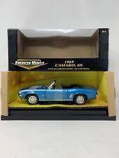 1:18 ERTL American Muscle 1969 Camaro SS Blue 32519