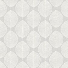 Gris Scandi Hoja Papel Pintado - Arthouse 908203