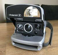 Polaroid P 600 Instant Film Camera - Silver Flash Retro Vintage TESTED