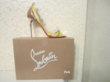 Christian Louboutin Metrisandal 100 Leather And PVC Sandals